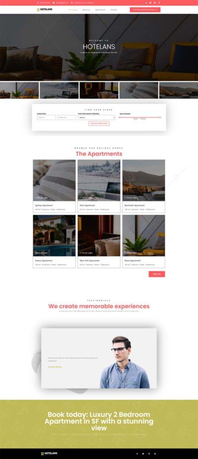 Anteprima del sito Hotel Booking Demo creato da B. Wired