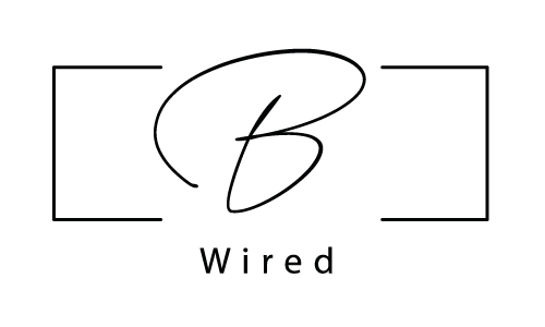 B. Wired Web Designer Logo Black