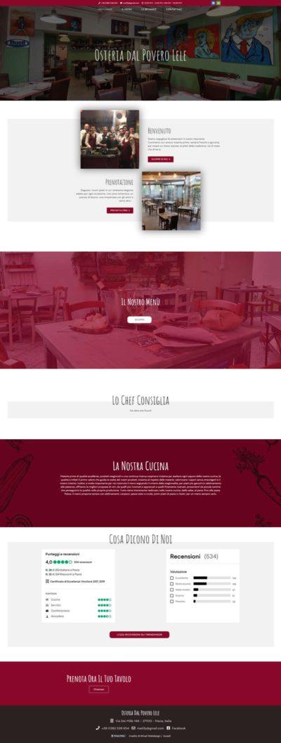 Anteprima del sito osteriadelpoverolele.com creato da B. Wired